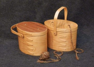 No-2 and No-3 utensil holders made from quartersawn sycamore, and cherry knitting carriers2