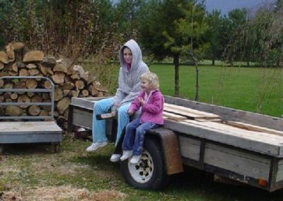 the girls supervising work in 2002